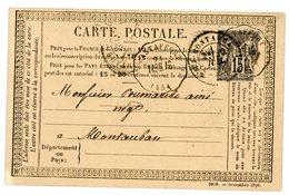LOT ET GARONNE CPP 1877 ASTAFFORT / TARB.AG CONVOYEUR STATION INDICE 16 COTE 170 EUROS. - Postmark Collection (Covers)