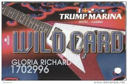 Trump Marina Casino Atlantic City NJ Slot Card  (Printed With *sm For Copyright) - Casino Cards