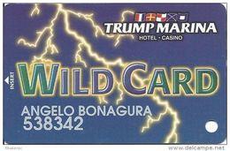 Trump Marina Casino Atlantic City NJ Slot Card  (Printed Without *sm For Copyright) - Casino Cards