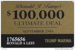 Trump Marina Casino Atlantic City NJ Slot Card - Casino Cards