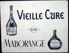 BUVARD ALCOOL LIQUEUR VIEILLE CURE  MABORANGE  BON ETAT - Liqueur & Bière