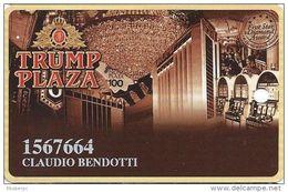 Trump Plaza Casino Atlantic City NJ Slot Card - Large Insert Card On Back - Casino Cards