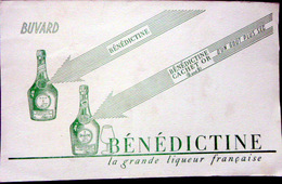 BUVARD  ALCOOL LIQUEUR BENEDICTINE   BON ETAT - Liquor & Beer