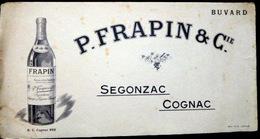 BUVARD  ALCOOL  COGNAC P FRAPIN ET Cie  16 CHARENTE  SEGONZAC   BON ETAT - Liquor & Beer