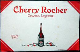 BUVARD  ALCOOL LIQUEUR CHERRY ROCHER GRANDE LIQUEUR   BON ETAT - Liqueur & Bière