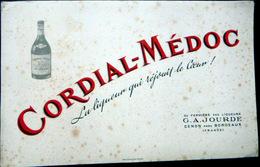 BUVARD  ALCOOL LIQUEUR CORDIAL MEDOC JOURDE 33 CENON PRES BORDEAUX      BON ETAT - Liqueur & Bière