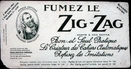 BUVARD  TABAC PAPIERS A ROULER ZIG ZAG A L'EMBLEME DU ZOUAVE  ETAT MOYEN - Tabac & Cigarettes