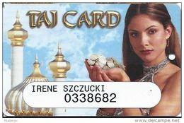 Trump Taj Mahal Casino Atlantic City NJ - Slot Card - Casino Cards