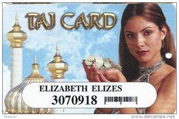 Trump Taj Mahal Casino Atlantic City NJ - Slot Card With Small Barcode - Casino Cards