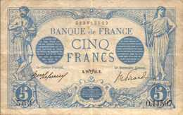 FRANCE 5 FRANCS Du 28-4-1916 Bleu Pick 70  F 2/38 - 1871-1952 Circulated During XXth