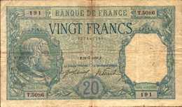 FRANCE 20 FRANCS Du 31-7-1918 BAYARD Pick 74  F 11/3 - 1871-1952 Circulated During XXth