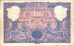 FRANCE 100 FRANCS Du 27-1-1909 Bleu Et Rose  Pick 65e F 21/24 - 1871-1952 Circulated During XXth