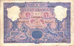 FRANCE 100 FRANCS Du 27-1-1909 Bleu Et Rose  Pick 65e F 21/24 - 1871-1952 Anciens Francs Circulés Au XXème