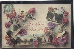 9537. CORMEILLES . UN BAISER DE CORMEILLES. MULTIVUES . (recto Verso)   ANNEE . 1907 .  A. DURANTON . EDITEUR - Cormeilles En Parisis