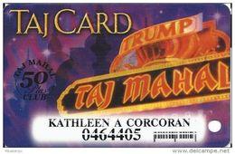 Trump Taj Mahal Casino Atlantic City NJ - Slot Card - 50 Plus Club - Small Barcode - Casino Cards