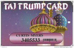 Trump Taj Mahal Casino Atlantic City NJ - Slot Card - Printed Player Info With Barcode - Casino Cards