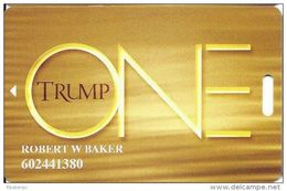 Trump One Atlantic City NJ Casino Slot Card - (I) Over 12.5mm Dark Brown Mag Stripe - Casino Cards