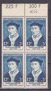 N° 1066 Célèbrités Du XV Au XX Siècles: Guillaume Budé: Bloc De 4  Timbres Neuf Sans Charnière Impeccable - Unused Stamps