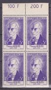 N°1071 Célébrités Du XV Au XX  Siècles : Maurice Ravel:  Bloc De 4 Timbres Neuf Sans Charnière Imeccable - Unused Stamps