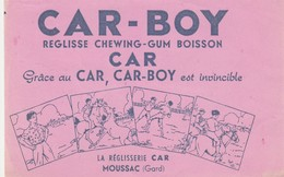 30 - BUVARD PUBLICITAIRE  CAR-BOY à MOUSSAC  - 035 - L