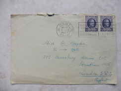 Belgique Enveloppe Houyoux 1927 Cachet Gent  ( Beau Courrier ) - 1922-1927 Houyoux