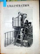 29 ILE DE SEIN REPORTAGE SUR LE PHARE APRES LA TEMPETE GRANDE GRAVURE + DOSSIER SUR LE SALON DE  LA BICYCLETTE 1896 - 1850 - 1899