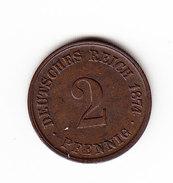 ALLEMAGNE KM 2, XF, 2 Pf, 1874 C.   (DP175) - 2 Pfennig