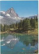 Valle D'Aosta, CERVINIA - BREUIL, Lago Bleu, Sullo Sfondo M. Cervino, Unused Postcard [19373] - Italy