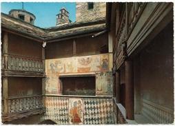Fenis Castle XIV Century, Courtyard Frescoes, Unused Postcard [19378] - Italy