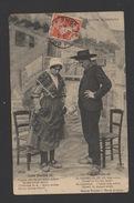 DF / FOLKLORE / COSTUMES / AUVERGNE / COUPLE EN COSTUME ET SABOTS / CIRCULÉE EN 1912 - Costumes