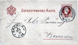 B - Austria 1883  - Cartolina Postale - Postwaardestukken