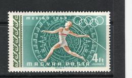 HONGRIE - Y&T Poste Aérienne N° 308* - Jeux Olympiques De Mexico - Javelot
