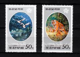North Korea 1998,2V,set,birds,vogels,vögel,oiseaux,pajaros,uccelli,tigers,tijgers,tiger,tigres,tigri,MNH/Postfris(A3096) - Oiseaux