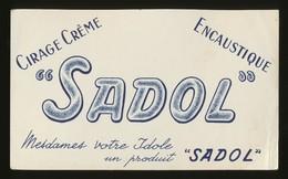 Buvard - SADOL - Cirage - Creme - Encaustique - Buvards, Protège-cahiers Illustrés