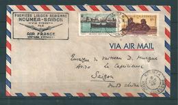 Nouvelle Calédonie Belle Lettre De 1948 Avec N°268 Et 273 - Brieven En Documenten