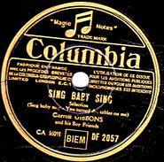 78 T.- 25 Cm - état TB -  Carroll GIBBONS - SING BABY SING - BIG BROADCAST OF 1937 - 78 G - Dischi Per Fonografi