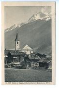 Kirche In Kippel, (Lötschenthal) Mit Bletschhorn, 1917 - VS Wallis