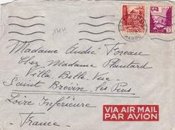 17151# MAROC LETTRE PAR AVION Obl PORT LYAUTEY 1952 SAINT BREVIN LES PINS LOIRE ATLANTIQUE - Marokko (1891-1956)