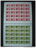 MAURITANIA 1988 COT. 156 € MNH ** BUZIN BIRDS FAUNA / Nr 605/606 FULL SHEET - Mauritanie (1960-...)