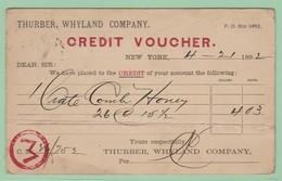 OM3  USA Entier Postal Repiqué  Credit Voucher  New-York 22 APR 92