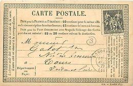 Cpa Précurseur 1877 De ROMORANTIN 41 à Tours, Cachet BERANGER HALLE, Epicerie Mercerie - Romorantin