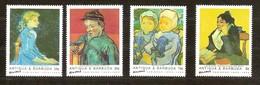 Antigua & Barbuda 1991 Yvertn° 1413-1416 *** MNH Cote 8,00 Euro Vincent Van Gogh - Antigua Et Barbuda (1981-...)