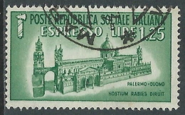1944 RSI ESPRESSO USATO DUOMO DI PALERMO - P41-7 - 4. 1944-45 Repubblica Sociale