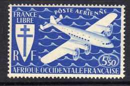 A. O. F.   P. A.  N°  1  XX  Partie De  Série De Londres : 5 F. 50 Bleu, Sans Charnière TB