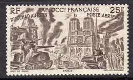 A. O. F.   P. A.  N° 9 XX  Partie De Série : Tchad Au Rhin : 25 F. Sépia, Sans Charnière, TB