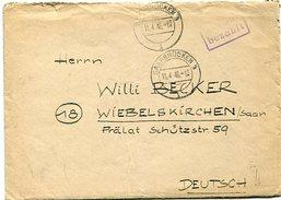 VR 12 Sarre Saar   Lettre Avec Correspondance  Cachet Gebuhr Bezahlt De Saarbrücken 3 Du 11.4.46 - Lettres & Documents