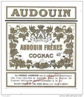 Etiquette De Cognac   -   Audouin  à  Saint Jean D'Angély  (17) - Etichette