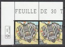France 2017 - NEUF - Y & T - Coeur Balmain - (2  Timbres X 0,73€) -  Timbres De Feuille - Tirage : 2 500 020 Exempl - Neufs