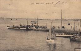 Thematiques 56 Morbihan N° 3897 Port Louis Le Quai Ecrite Timbrée Datée 1912 - Port Louis