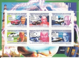 Guinee  2009  Worldwide  Bosses Of Motor Car Industry At New Delhi  India Summit  6v  MNH Sheet #  93955